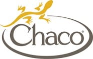 gray Chaco logo with yellow lizard