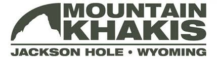 Mountain Khakis Logo. Jackson Hole, Wyoming